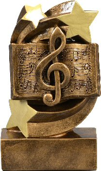Star Swirl Music Resin Trophy