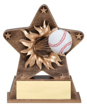 Baseball Theme Starburst Resin Trophy