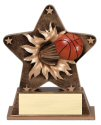 Basketball Theme Starburst Resin Trophy