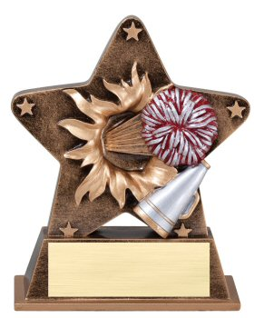 Cheerleading Theme Starburst Resin Trophy