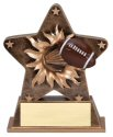 Football Theme Starburst Resin Trophy