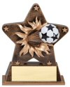 Soccer Theme Starburst Resin Trophy
