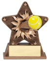 Tennis Theme Starburst Resin Trophy