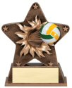 Volleyball Theme Starburst Resin Trophy