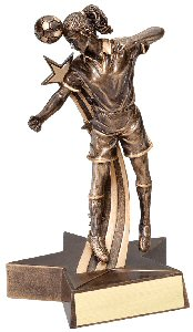 Soccer Female Superstar Trophy