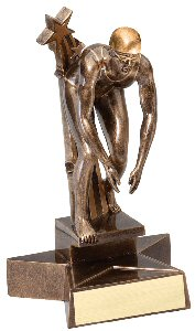 Female Superstar Swimming Trophy