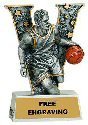 V Series Male Basketball Resin Award