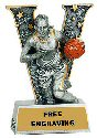 V Series Female Basketball Resin Award