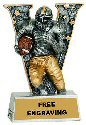 V Series Football Resin Award