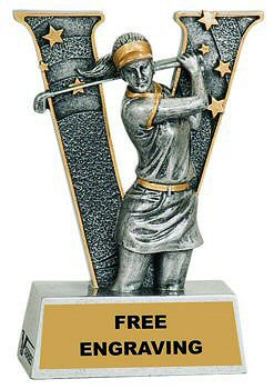 V Series Female Golf Resin Award