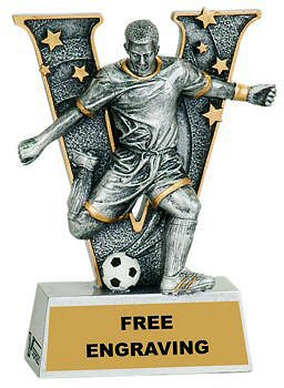 V Series Male Soccer Resin Award