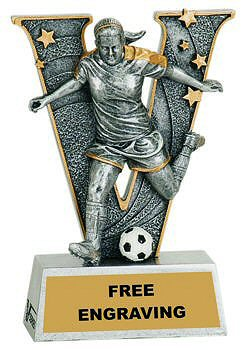 V Series Female Soccer Resin Award