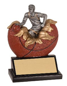 Xploding Male Basketball Resin Trophy