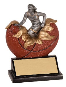 Xploding Female Basketball Resin Trophy