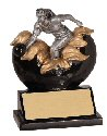Xploding Female Bowling Resin Trophy