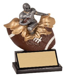 Xploding Football Resin Trophy