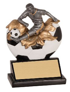 Xploding Male Soccer Resin Trophy