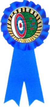 Blue Rosette Archery Ribbon