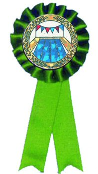 Green Rosette Swim Ribbon