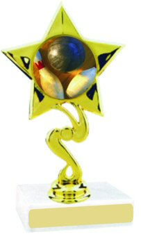 Star Insert Participation Bowling Trophy