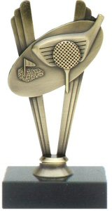 Golf Theme Metal Trophy