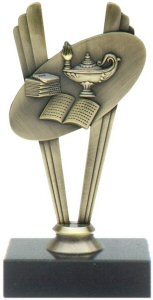 Scholastic Theme Metal Trophy