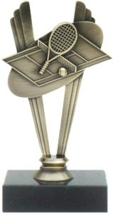 Tennis Theme Metal Trophy