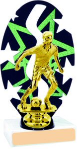 Stars Backdrop Soccer Trophy