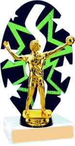 Stars Backdrop Volleyball Trophy