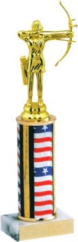 Flag Series Round Column Archery Trophy