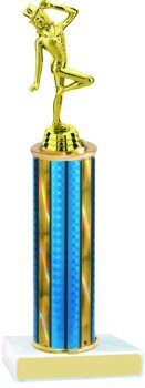 Prism Hologram Round Column Dance Trophy