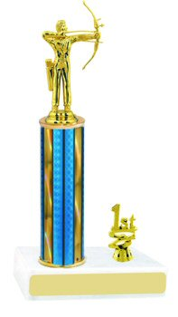 Prism Hologram Column Archery Trophy with Trim
