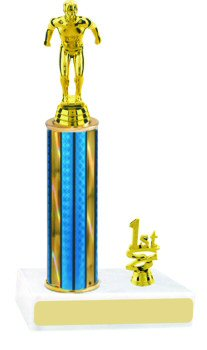 Prism Round Column Swimming Trophy with Trim