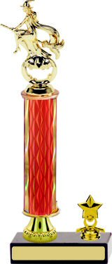 Diamond Halloween Trophy with Pedestal and Trim