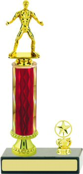 Diamond Wrestling Trophy with Pedestal and Trim