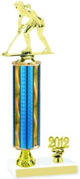 Prism Hologram Field Hockey Trophy with Pedestal and Trim