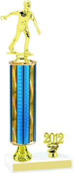 Prism Horseshoes Trophy with Pedestal and Trim