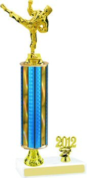 Prism Martial Arts Trophy with Pedestal and Trim