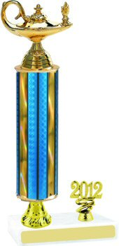 Prism Knowledge Trophy with Pedestal and Trim