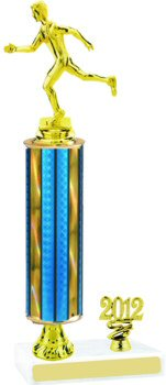 Prism Track Trophy with Pedestal and Trim