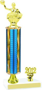 Prism Water Polo Trophy with Pedestal and Trim