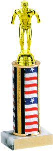 Flag Series Round Column Swimming Trophy