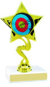 Star Insert Participation Archery Trophy