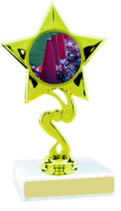 Star Insert Participation Cheerleading Trophy