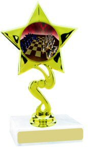 Star Insert Participation Chess Trophy