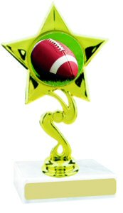 Star Insert Participation Football Trophy