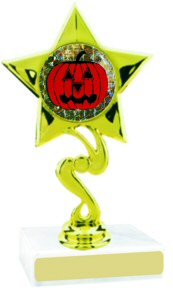 Star Insert Participation Halloween Trophy