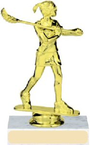 Lacrosse Figure on a Base Trophy