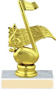 Music Figure on a Base Trophy