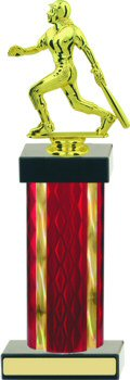 Diamond Hologram Wide Column Softball Trophy